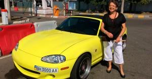 Mit dem Cabriolet durch Odessa