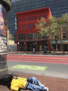 Obdachloser in San Francisco